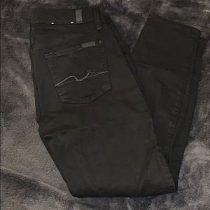 7 for all Mankind black skinny